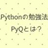 Pythonの勉強法 PyQって?