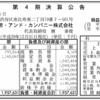 五常・アンド・カンパニー株式会社 第4期決算公告