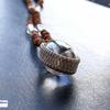 レア・希少!ぷっくりかわいい高品質ヒマラヤ産水晶リンガム×9面&ガネーシャのルドラクシャマーラーペンダント(菩提樹の実)全チャクラ対応