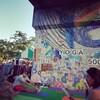 re discover スリランカフェスティバルで外ヨガ