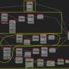 Blender Animation nodes spline を草っぽく曲げる