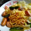余り物スパゲッティ / 肉と野菜のゆず胡椒スパゲッティ