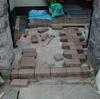 玄関ポーチ土間改装1-2(コンクリートから→レンガ敷き込み仕上げ)