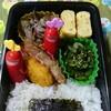 【夫弁当】2月第2週は、豚肉のネギ塩炒めから、ピーマンのおかか炒め。