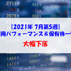 【株式】週間運用パフォーマンス&保有株一覧(2021.7.29時点) 大幅下落
