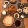 素麺、煮麺、人参とほうれん草のナムル、さぼてんのフライ