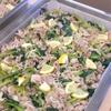 豚肉と小松菜の塩レモン炒め