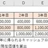 【エクセル】NPV関数の使い方_正味現在価値の算出