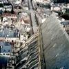 ブールジュの大聖堂北塔から見た飛び梁、そして円形交差点について
