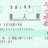 喜入駅 普通入場券