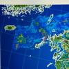 雨雲レーダーって韓国エリアは映さないのね。