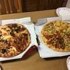 息子の誕生祝いにピザ