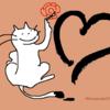 年賀状の練習開始 猫のイラスト