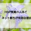 HSP(敏感すぎる)気質の人こそネット断ちが有効な理由