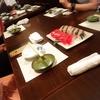 お寿司から始まる飲み会。