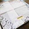 スイスレースの白いハンカチ‗handkerchief