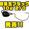 【issei】ヘッド部分とフックが独立したアイテム新ウェイト「根魚玉ブラック10g 2/0」追加!