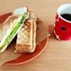 【朝ごはん】王道ハムチーズホットサンド【レシピ】