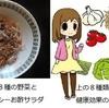 ヘルシーシェフのお酢,納豆和え野菜サラダレシピ 二人分