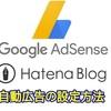 Googleアドセンスの自動広告をはてなブログでの設定方法~画像付きで解説