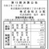 株式会社エコ配 第13期決算公告