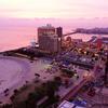 夕陽が本当に綺麗で、ユルい気楽なホテルでした。沖縄本島・北谷町「ザ・ビーチタワー沖縄」