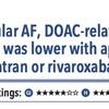 ACPJC:疫学 非弁膜症性心房細動患者ではDOAC関連消化管出血はダビガトラン・リバロキサバンよりアピキサバンが少ない