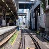 電車のやってくる下北沢駅