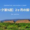 【早起きキャンプ】2ヶ月の振り返り(ワーク第9週)