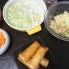 コーンクリーム春巻、ポテトサラダ、味噌汁