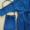 【着物リメイク】ワンピースとおそろいバッグ