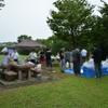 小雨の降る中、仕事仲間でバーベキューしました @一宮 極楽寺公園