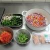金曜日の 冷蔵庫そうじ と、野菜たっぷりカレーライス
