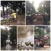 台風襲来の賀茂神社・秋季例大祭宵祭