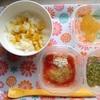 離乳食 中期 87日目 1回目 かぼちゃフレークミルクパン粥