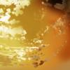 夕空に飛ぶグフを描く。今回はスケッチ風に。(ガンダム イラスト)