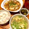 本日は旨辛麻婆豆腐でお祝いでした!