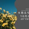 【2020】9月のふりかえり・10月の目標【怒涛の一ヶ月】