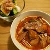 豚の角切りとトマトの食べるスープ|塾の日ごはん