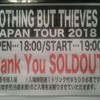 NOTHING BUT THIEVES JAPAN TOUR 2018 感想