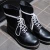 ドクママーチン10ホール 靴紐(シューレース)を白に変える