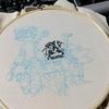 【メイドインアビス】6巻表紙の黒糸刺繍【レグとファプタ】 其の弐(ファプタ(1))