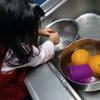 それって台所作業では無くて、立派な水遊びですよね?