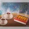 パステル画「楽しき宇宙の旅」
