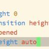 width、heightがautoの要素にtransitionを適用する