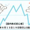【国内株式初心者】2021年8月13日19日取引した銘柄の記録