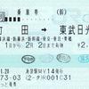 JR東日本  池袋駅指定席券売機発行 連絡乗車券<途中下車印収集>