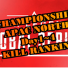 ALGSチャンピオンシップ APAC North Day1~4 出場選手キル数ランキング一覧