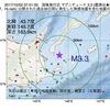 2017年10月02日 07時51分 国後島付近でM3.3の地震