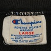 759 PART 2 VINTAGE Champion reverse weave BLACK PLAIN  SWEAT 80's